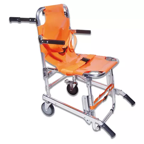 Aluminum Material Folding Stair Chair Stretcher with PVC