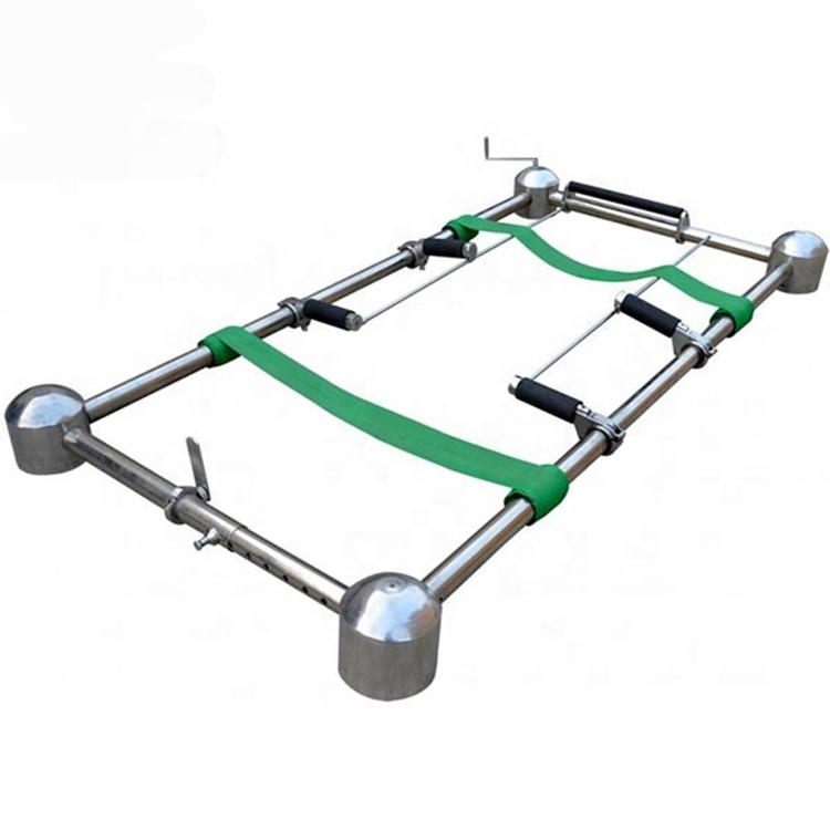 Lowering device trolleys aluminum alloy funeral stretcher