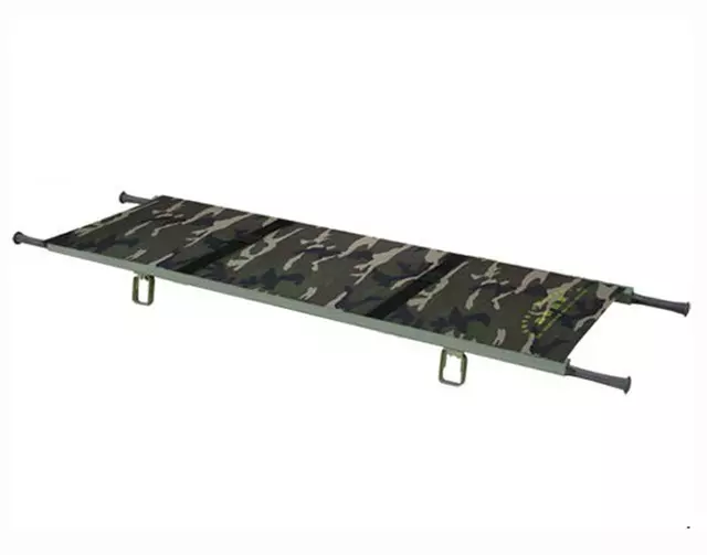 Aluminum stretched canvas stretcher emergency relief for the army